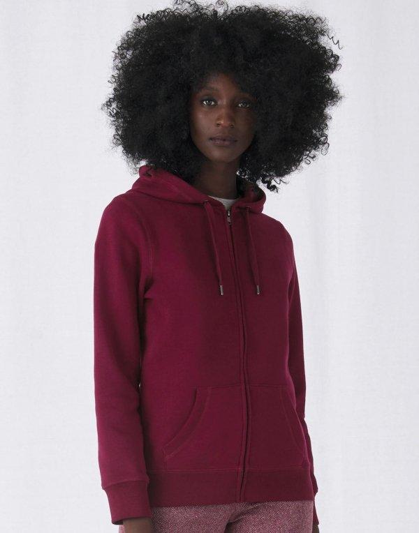 Sweatshirt à capuche et zip adulte