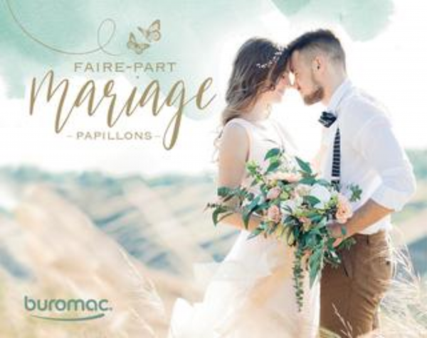 Invitations mariage Buromac