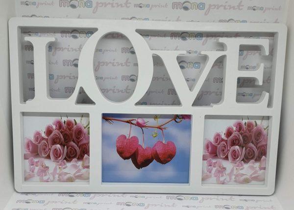Rama foto colaj Love 3 poze