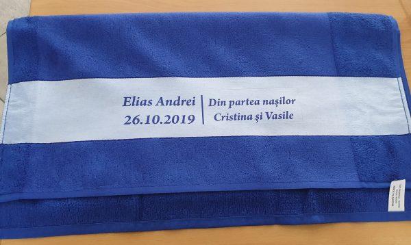 Serviette 70x140 cm bleu